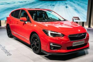 New 2018 Subaru Impreza car showcased at the Frankfurt IAA Motor Show., Safest Cars